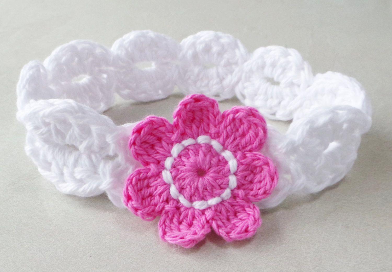 Crochet bandeau motif babys bandeau motif par - Diademas de ganchillo ...