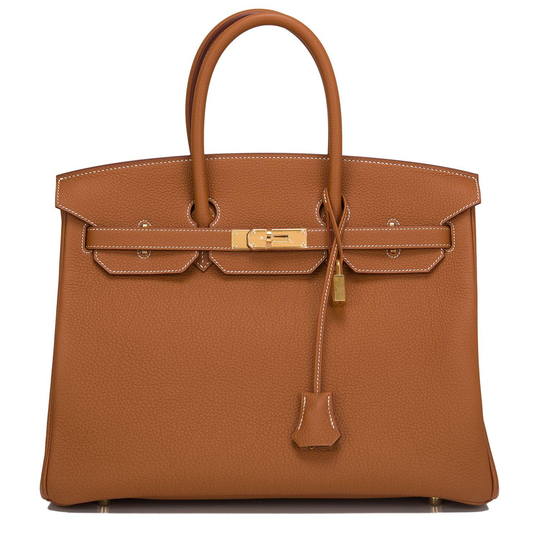 20a215f9dca1 Hermes Birkin Bag 35 Gold Togo Gold Hardware  hermes