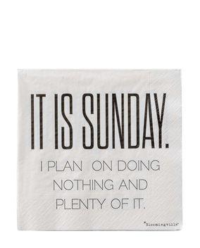 Papierservietten Sunday