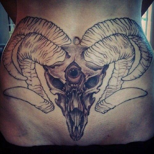 Tattoo Brutal Tattoos Satan Goatshead Evil Pelvic Tattoos 3rd Eye Tattoo Stomach Tattoos