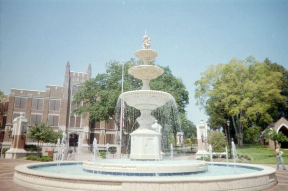 Harrison Plaza Fountain On University Of North Alabama Campus