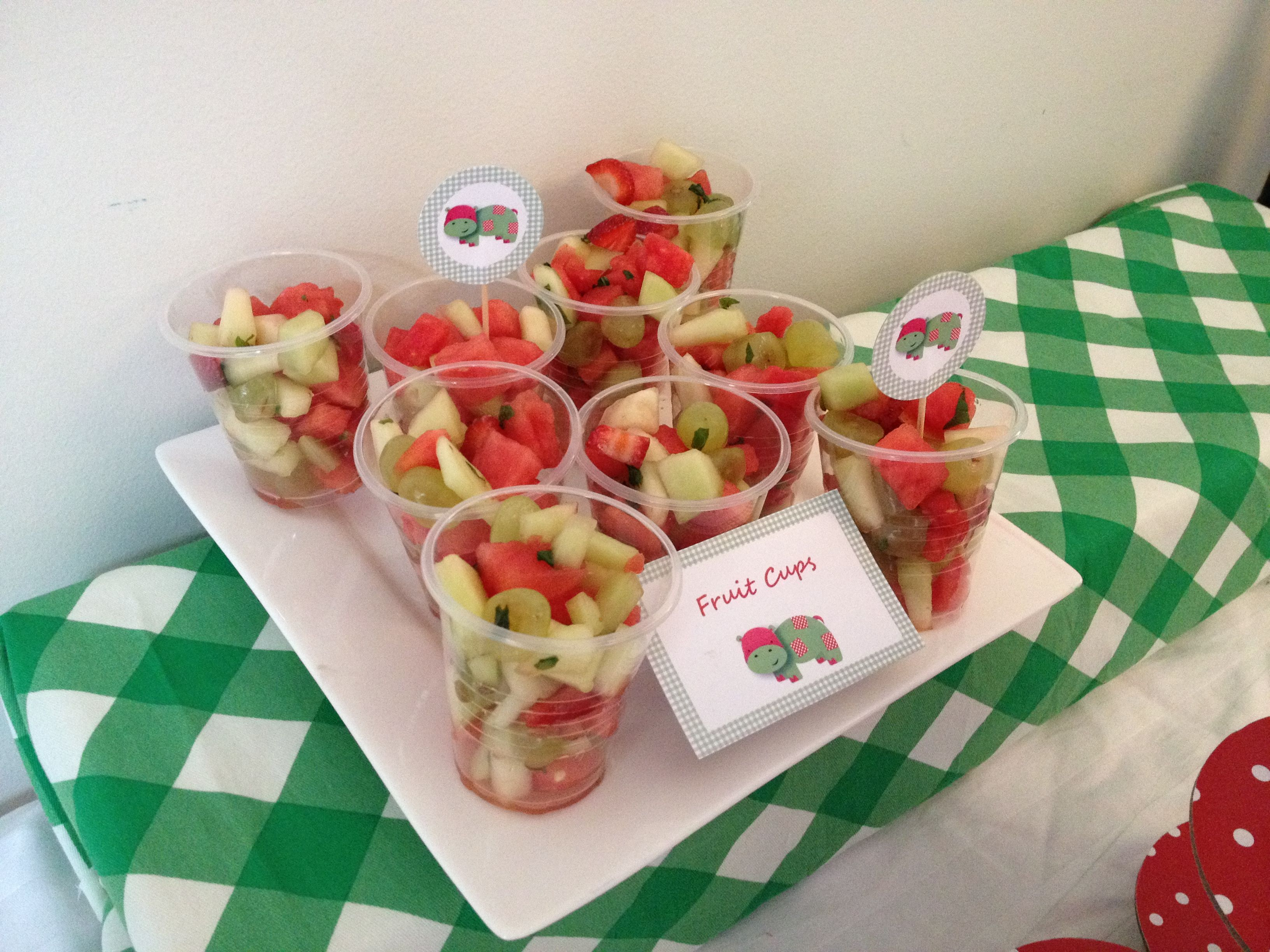 Brees Baby Shower  Fruit Cups