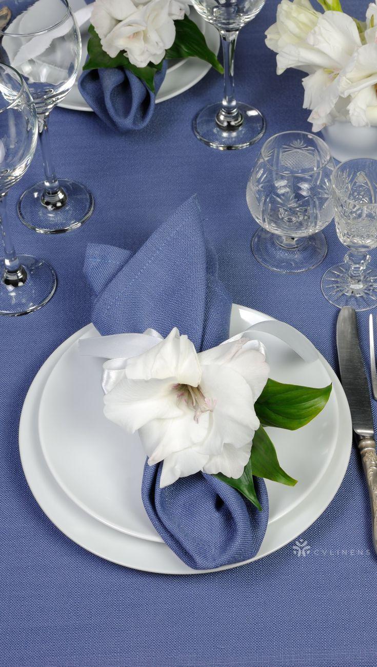 Faux Denim Napkin 20x20 - Dark Blue #foldingnapkins Elegant faux denim napkin fold with flower decorations | napkin fold with silverware, napkin fold ideas, easy napkin fold, wedding napkin fold, cloth napkin fold, simple napkin fold, easter napkin fold, fancy napkin fold, basic napkin fold, linen napkin fold, DIY napkin fold, napkin fold table, baby shower napkin fold, dinner napkin fold, elegant napkin fold, wedding napkin folding, cloth wedding napkin, rustic wedding napkin, wedding napkin id #diynapkinfolding