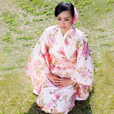 Female Japanese Kimono Samurai Clothing Photo Stage Costumes