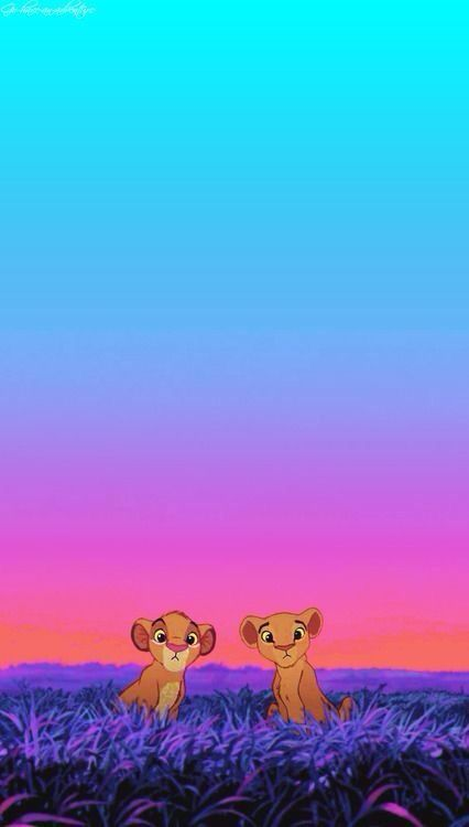 The Lion King Simba And Nala As CubsThis Picture Is So Adorable Brings Back Disney Memories Background Phone IPhone