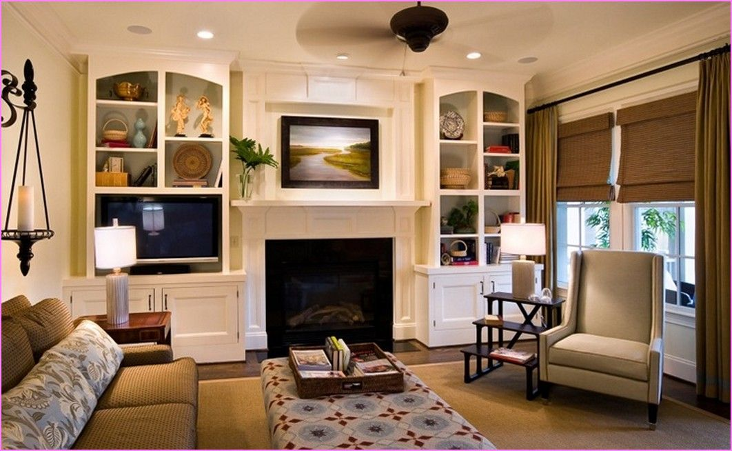 Built In Cabinets Around Fireplace  Best Home Design Ideas Best Cabinet Designs For Living Room Design Decoration