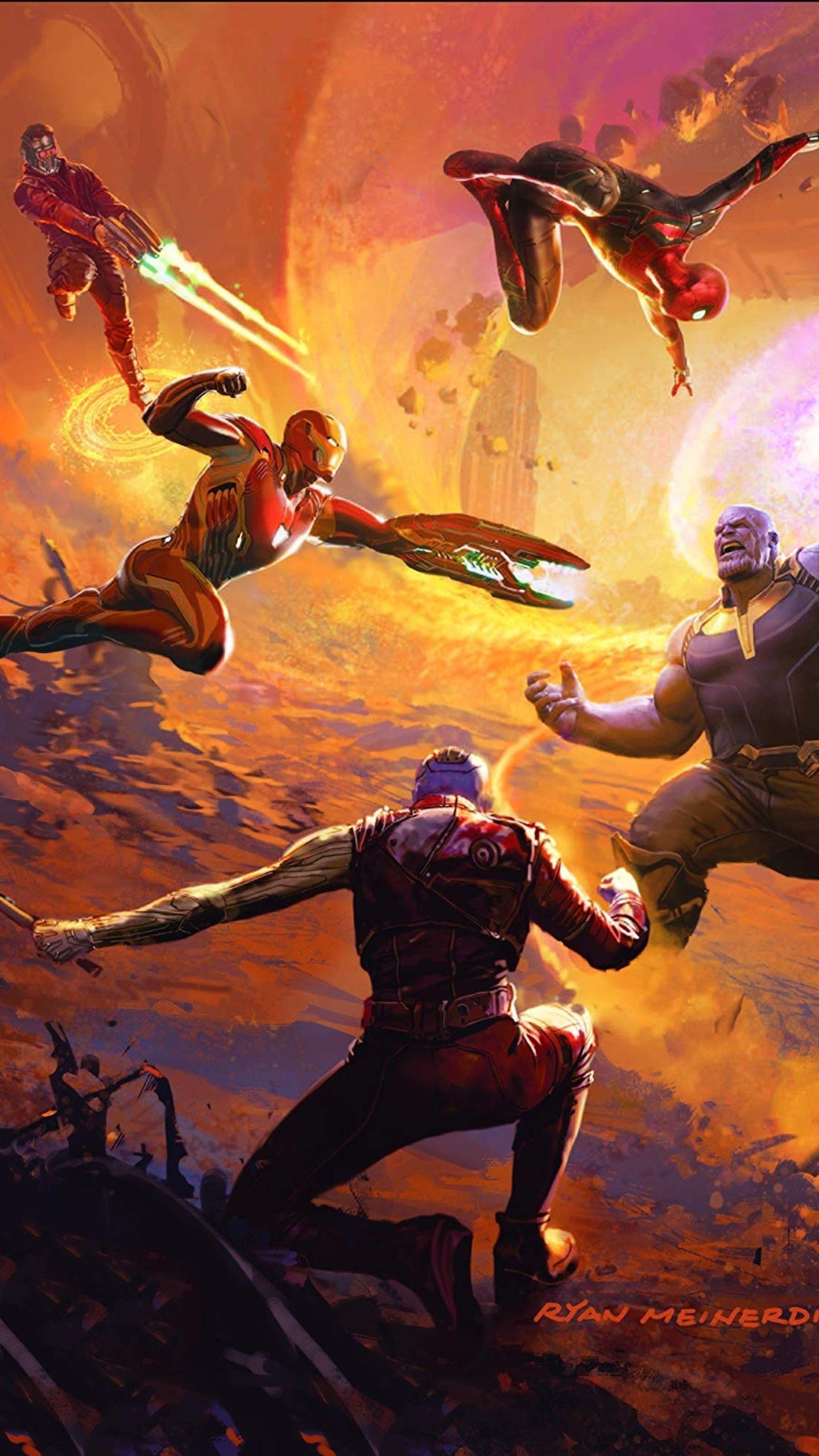 Download Wallpapers Thanos Art 2018 Movie Superheroes Avengers Infinity War Besthqwallpapers Com Stone Artwork War Art Soul Stone