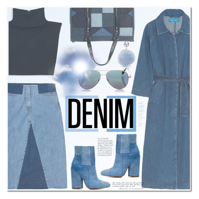 """No 367:Double Down on Denim"" by lovepastel ❤ liked on Polyvore featuring Aries, Michael Kors, M.i.h Jeans, Diesel, 10 Crosby Derek Lam, Cutler and Gross and Denimondenim"
