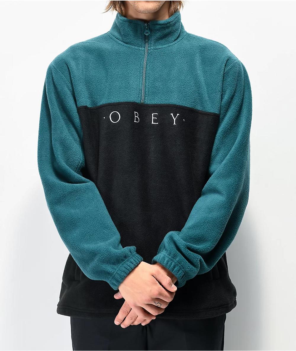 Obey Channel Black Teal Tech Fleece Sweatshirt Zumiez In 2021 Tech Fleece Sweatshirt Fleece Mens Sweatshirts Hoodie [ 1188 x 1000 Pixel ]