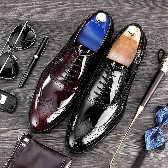 Shuperb FABRIO Mens Stylish Two Tone Fashion Formal Office Lace Up Brogue Shoes