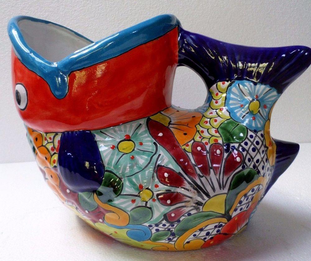 Mexican Folk Art Talavera Pottery Fish
