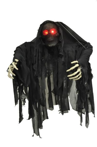 Hanging Black Wrapped Ghoul Halloween Decoration in 2018 Holiday