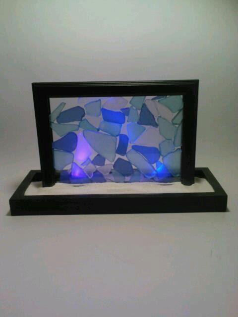 Suncatcher Sun Catcher Beach Glass Blue by DeerwoodCreekGifts, $30.00