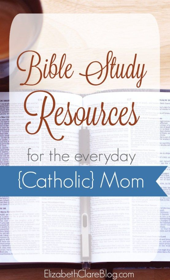 Bible Study Resources for the Everyday {Catholic} Mom | Bible ...