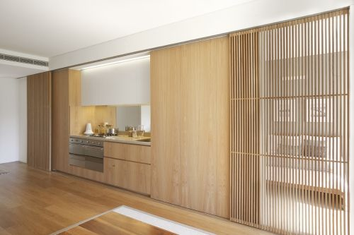 Slatted internal privacy screen google search basement for Sliding timber screens