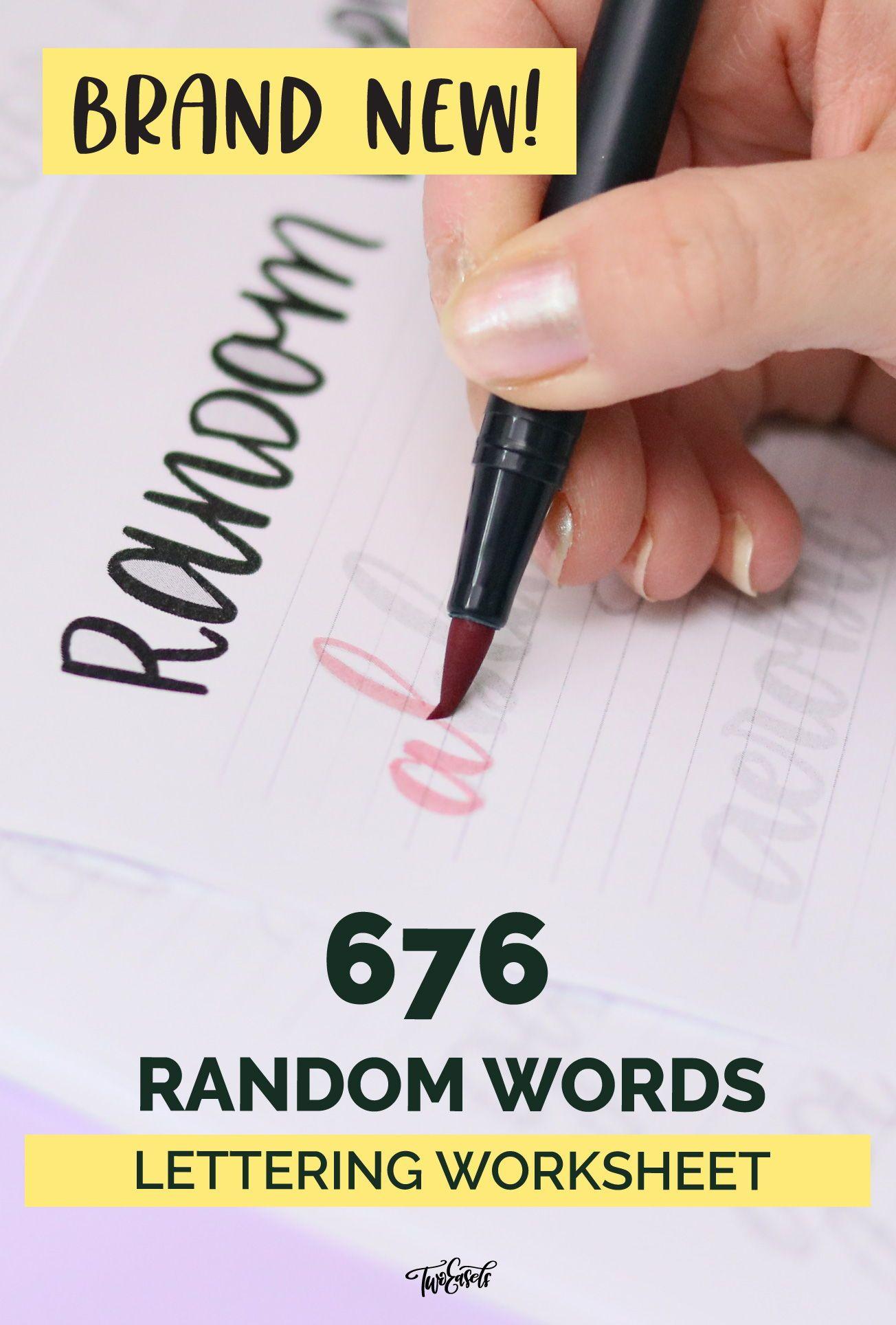 676 Random Words Worksheet In