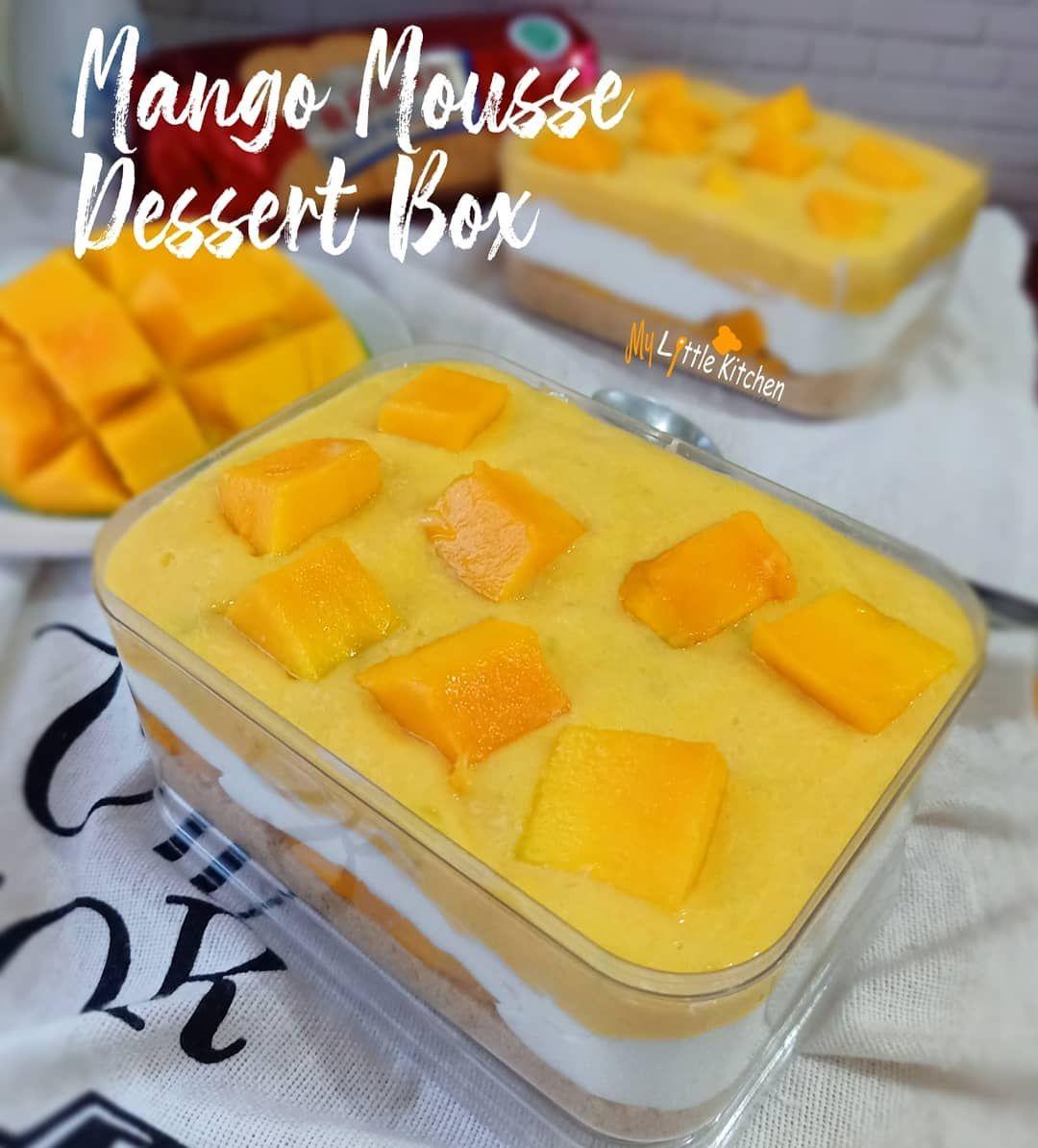 Liat Mangga Banyak Banget Mata Jadi Seger Kebayang Mau Bikin Dessert Box Di Jalan Mikir Di Mix Pake Apa Ya Mango Mousse Mousse Dessert Dessert Boxes