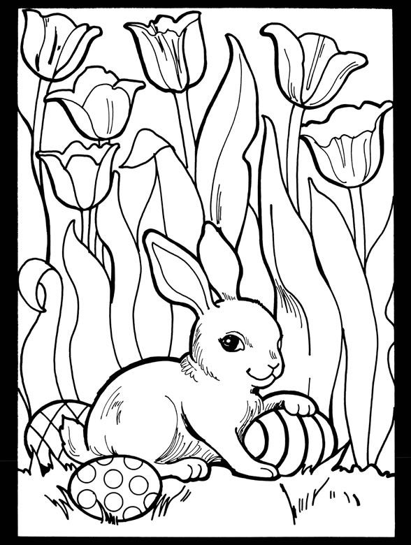 Welcome To Dover Publications Spring Coloring Pages Bunny Coloring Pages Easter Colouring