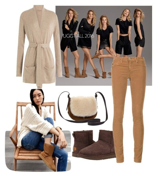 """""""The Icon Perfected: UGG Classic II Contest Entry"""" by subvilli on Polyvore featuring UGG, UGG Australia, Closed, AG Adriano Goldschmied, ugg and contestentry"""