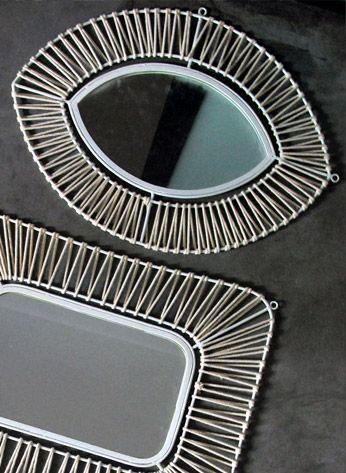 Honor d coration marseille miroir il accessoires for Miroir rotin oeil