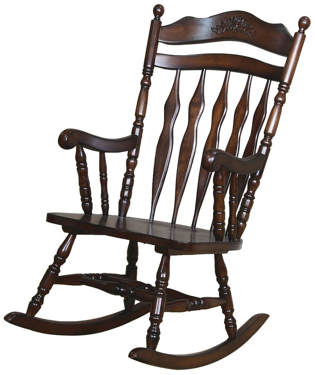 Traditional Medium Brown Rocking Chair *** You can get