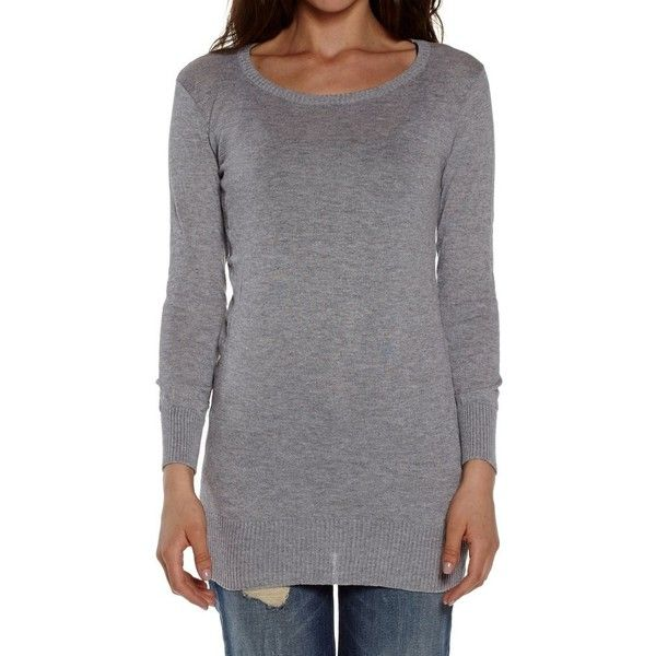 Dinamit Juniors Cotton Ribbed Crew Neck Tunic Sweater ($23) via ...