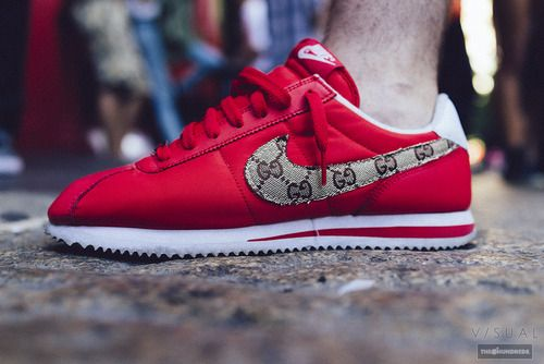 Air max 90 · Nike Cortez Gucci custom. #sneakers
