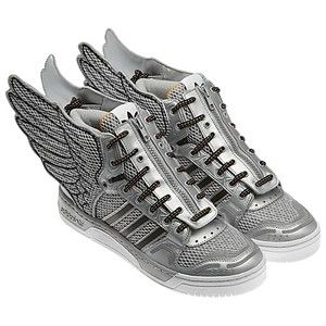 release date: 47fe9 1418b Adidas Jeremy Scott JS Wing Shoes 2 0 Silver Black Mesh Metal Shoes RARE Sz  8 US   eBay