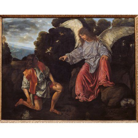 Archangel Raphael And Tobias (Tobias And The Angel) Canvas Art - (24 x 18)