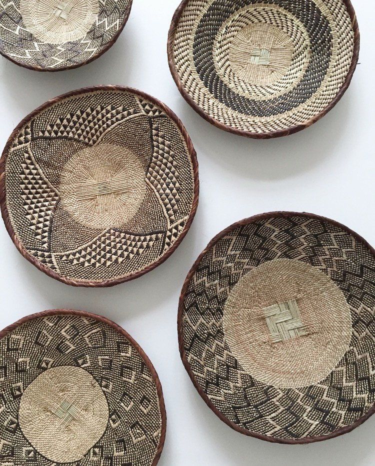 This vintage hand-woven tonga basket is from Zimbabwe. It looks ...