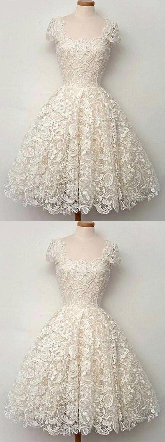Short prom dresses white prom dresses lace prom dresses vintage