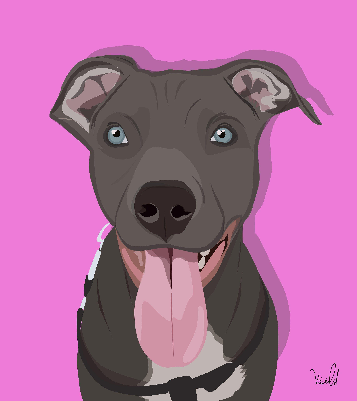 Custom dog mom gift custom portrait of your dog custom