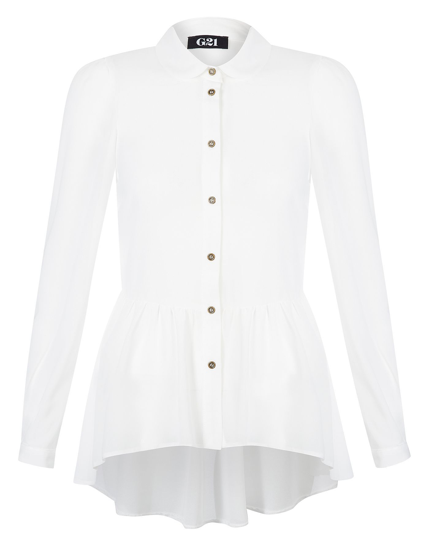 White apron asda - G21 Peplum Shirt Women George At Asda