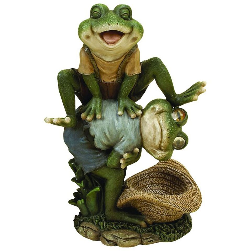"9"" Leap Frogs Garden Ornament  Frog decor, Frog statues, Frog"