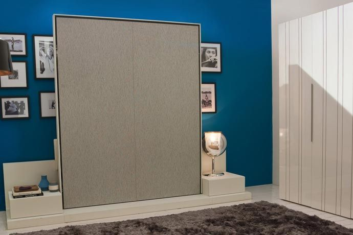 Cama abatible vertical de matrimonio mueble cama - Camas plegables verticales ...