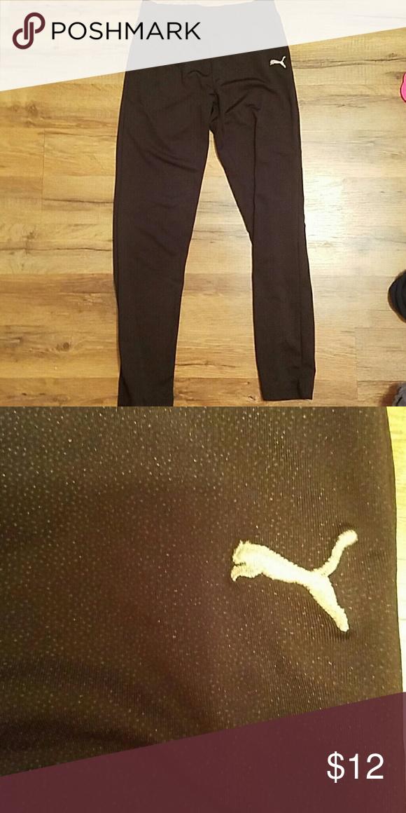 Puma leggins Puma leggings size girls large. Could fit an xs juniors. Silver dots on them. Good condition. Puma Pants Leggings
