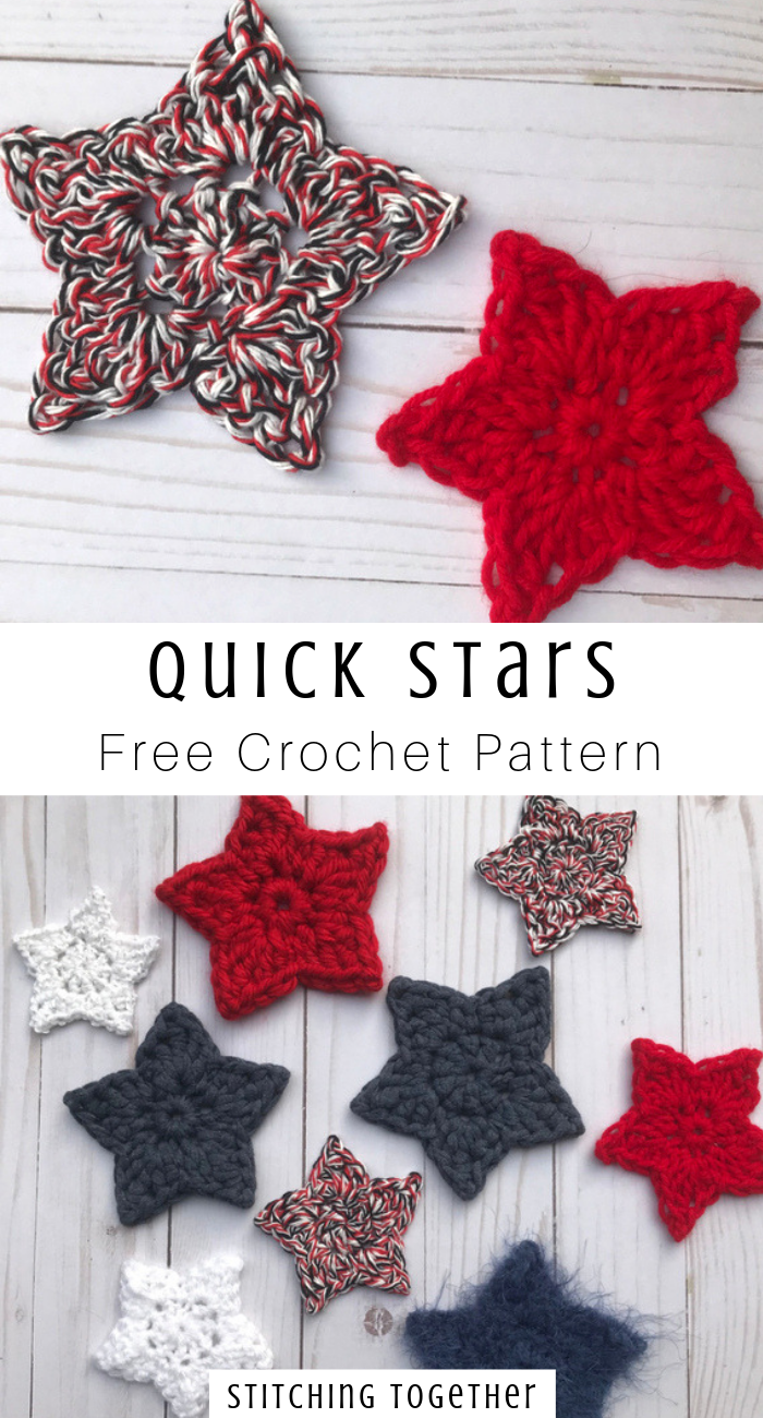 Simple Crochet Star Pattern   Stitching Together