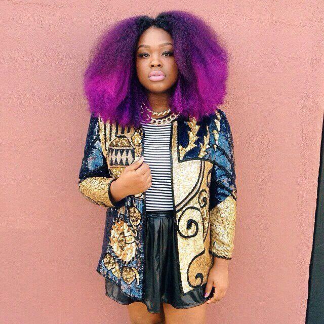 Kinky curly purple hair! Tumblr girl | HairCrushing! | Pinterest ...