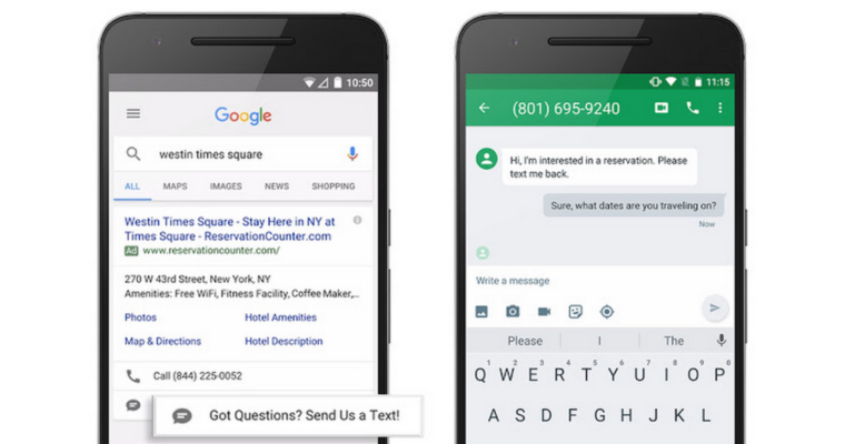 Google Enhances Click To Message Ads With Email Forwarding And Auto Replies Adwords Messages Email Forwarding