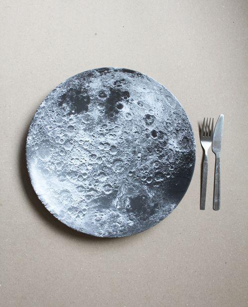Apollo Moon Melamine Plate   Zazzle.com