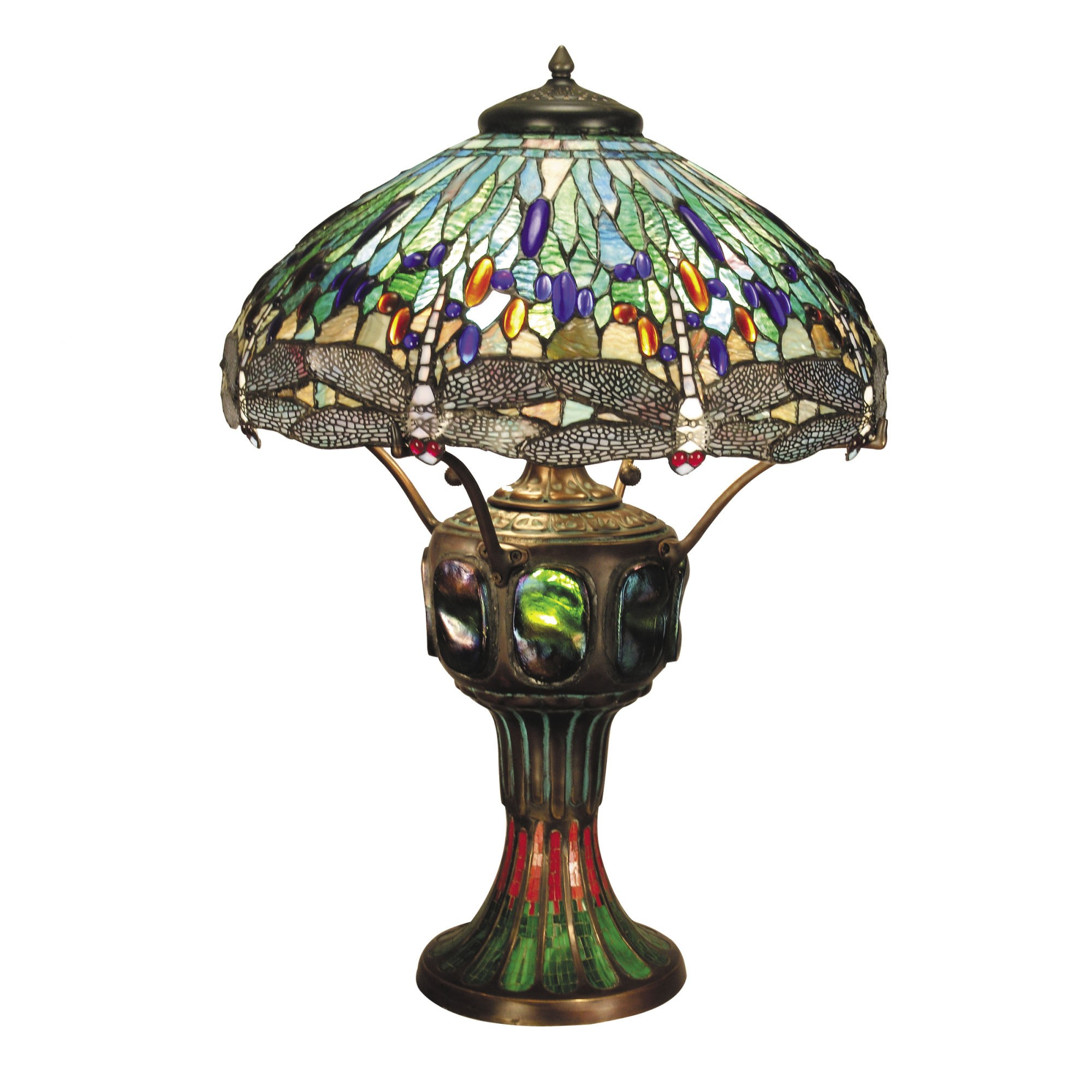 Antique Tiffany Lamps Dale Tiffany Lamps Blue Dragonfly Three Light Table Lamp In Antique Tiffany Lamps Art Glass Lamp Tiffany Table Lamps