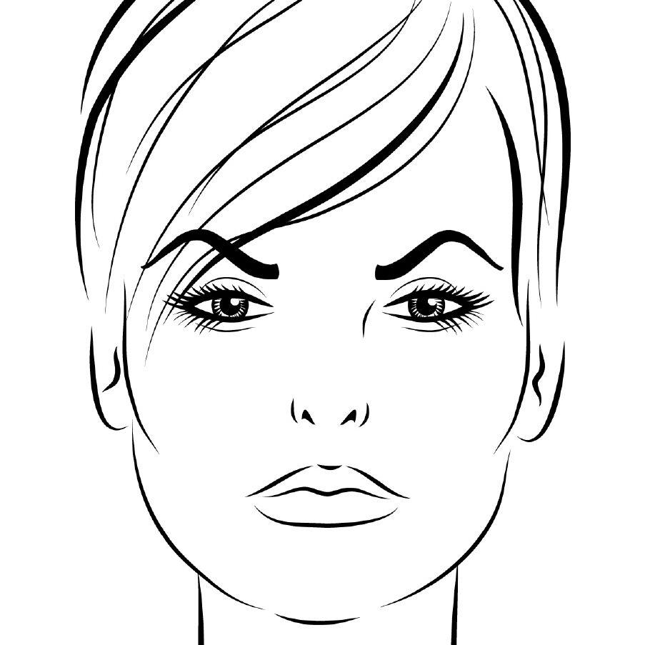 Лицо женское картинка для детей