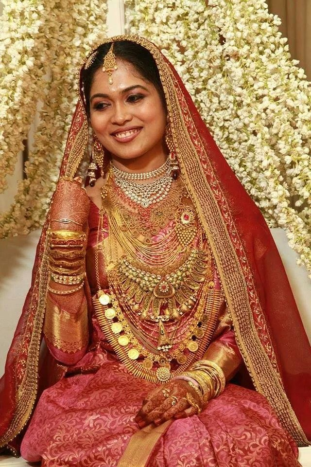 Kerala brides South indian bridal jewellery, Muslim