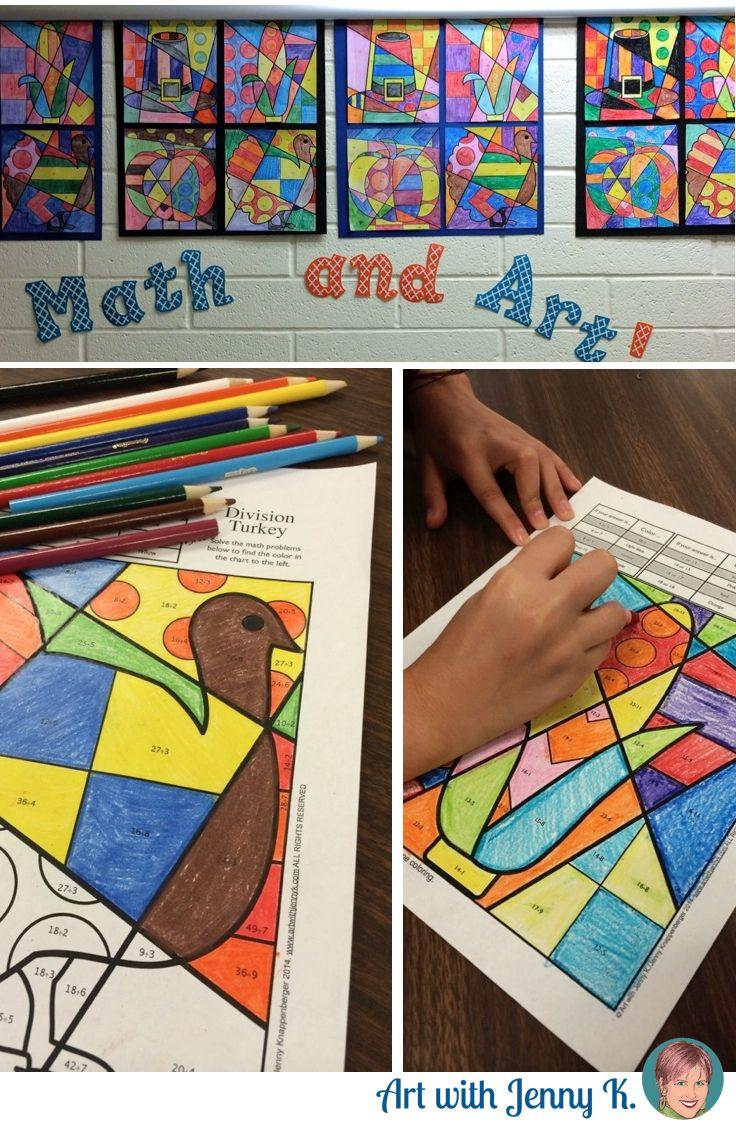 Thanksgiving Math Resource Art With Jenny K Thanksgiving Math Thanksgiving Math Addition Math Coloring [ 1128 x 736 Pixel ]