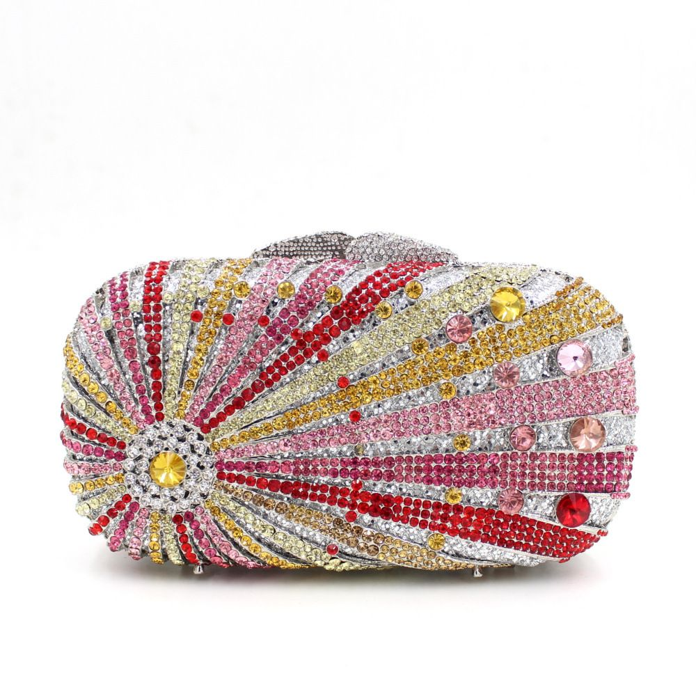 Fashionable Beaded Handbag For Women Black And Pink Clutch Bag Diy Handmade Sequin Crystal Purse Bridesmaid Uk Online