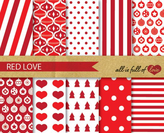 Rouge Noel Numerique Papier Pack Noel Scrapbook Digital Fond