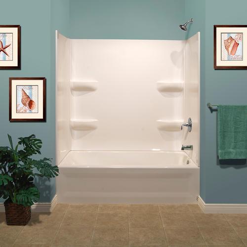 Lyons Elite 54 X 30 White Bathtub Wall Surround With Images Bathtub Walls Bathtub Wall Surround Bathtub