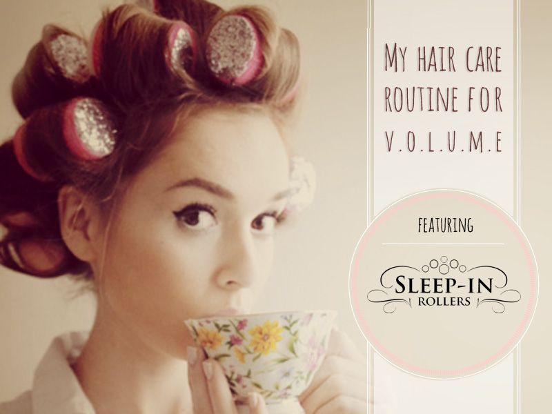 pillow hair rollers. volume hair care routine, ft. sleep in rollers pillow