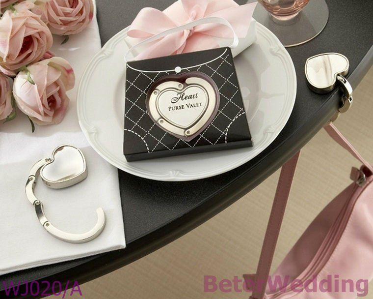 Wj020 A Heart Purse Valet Compact Stainless Steel Handbag Holder Your Wedding Gifts Party F Bridal Shower Party Favors Unique Wedding Favors Wedding Souvenirs