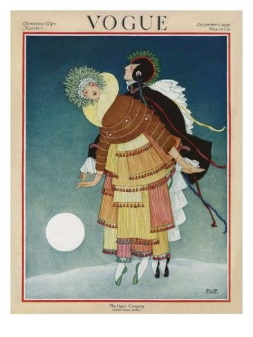 ⍌ Vintage Vogue ⍌ art and illustration for vogue magazine covers - December 1920 by George Plank